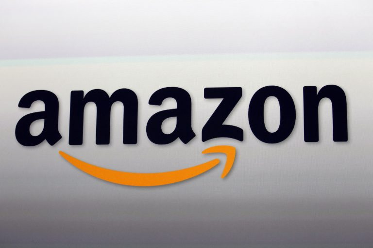 This Sept. 6, 2012, file photo, shows the Amazon logo. A new study says Amazon's facial-detection technology often misidentifies women, particularly those with darker skin. (Reed Saxon/AP Photo, File)
