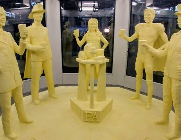 The 2019 Pennsylvania Farm Show butter sculpture was unveiled Jan. 3, 2019. Its title is