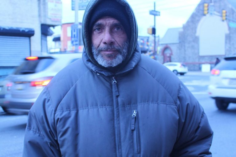 Eduardo Aponte shares a room with other homeless men in Kensington or sleeps on the street most nights. He's one of many Latinos who avoids homeless shelters, who the city is trying to reach. (Emma Restrepo/Philadelphia Inquirer)