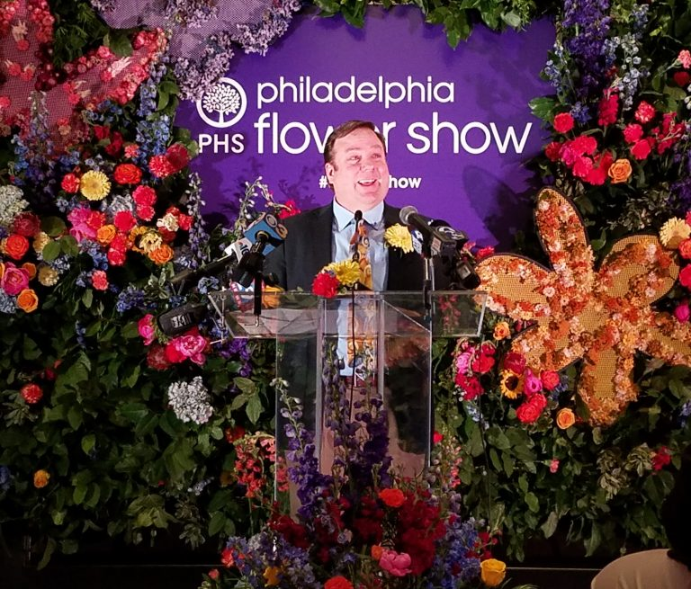 Sam Lemheney, chief of shows at the Pennsylvania Horticultural Society, announced the 2019 Philadelphia Flower Show's theme,