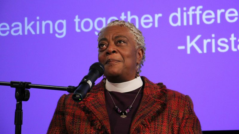 Bishop Patricia Davenport participates in