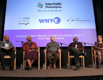 Religious leaders  from diverse backgrounds model civil discussion on the difficult topics of race and faith. (Emma Lee/WHYY)