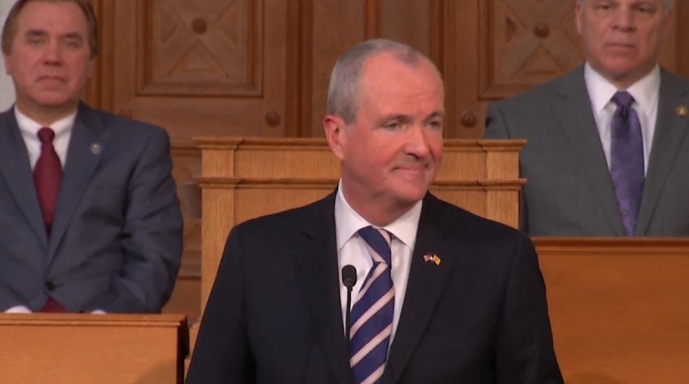 New Jersey Gov. Phil Murphy speaks during his first State of the State address on Jan. 15, 2019. (Screenshot via YouTube)