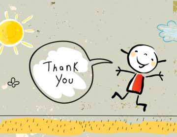 Kids thank you card. (Image Courtesy/BigStock)