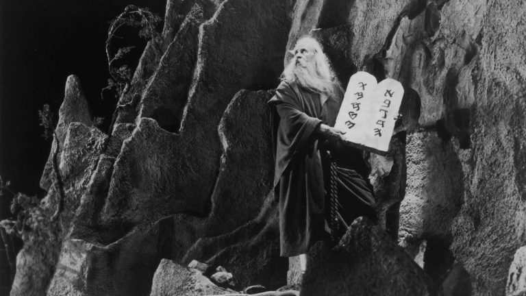 American actor Theodore Roberts as Moses in Cecil B. DeMille's silent version of The Ten Commandments — one of many works from 1923 that entered the public domain on Jan. 1. (Hulton Archive/Getty Images)