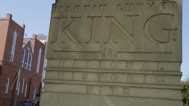 The Martin Luther King, Jr. National Historic Site in Atlanta is open for the first time in nearly a month, after a grant from the Delta Air Lines Foundation made up for the lack of federal funds from the partial government shutdown. (Jeff Greenberg/UIG via Getty Images)