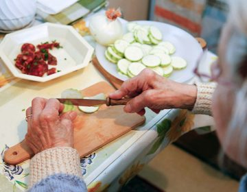 Even something as simple as chopping up food on a regular basis can be enough exercise to help protect older people from showing signs of dementia, a new study suggests. (BSIP/UIG/Getty Images)