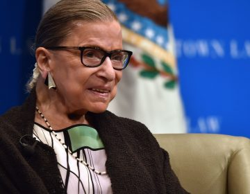Supreme Court Justice Ruth Bader Ginsburg during a talk with Georgetown University law students in Washington. (AFP Contributor/AFP/Getty Images)