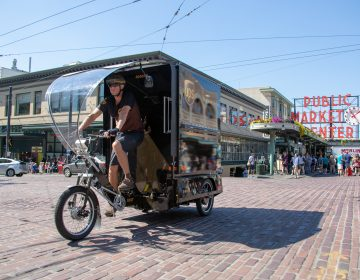 UPS is introducing cargo e-bikes in some U.S. cities. Philadelphia officials say the City of Brotherly Love could benefit from the trikes. (Courtesy of UPS)