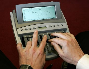 Stenographers take rapid-fire dictation at twice the speed of speedy typists, deciphering regional accents and paying ardent attention to the most arcane talk. (AP Photo/Haraz Ghanbari)
