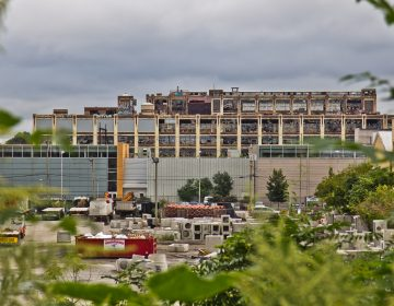 A 26-acre slice of the hulking Budd Co. auto assembly in Nicetown has sat unused since 2003. (Kimberly Paynter/WHYY)