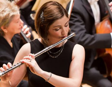 Flutist Elizabeth Rowe, performing as a soloist with the Boston Symphony Orchestra in 2016. (Winslow Townson/Courtesy of the Boston Symphony Orchestra)