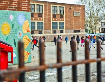 Lowell Elementary does not have a playground. The public school is partnering with the nonprofit Trust for Public Land to build one. (Kimberly Paynter/WHYY)
