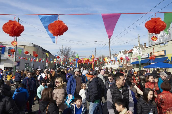 Hundreds of people attended the 2019 Chinese New Year Festival, the first of its kind in Northeast Philadelphia. (Natalie Piserchio for WHYY)