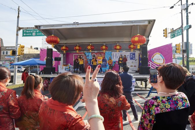 The 2019 Chinese New Year Festival was held in Northeast Philadelphia at the corner of Frankford and Cottman avenues. (Natalie Piserchio for WHYY)