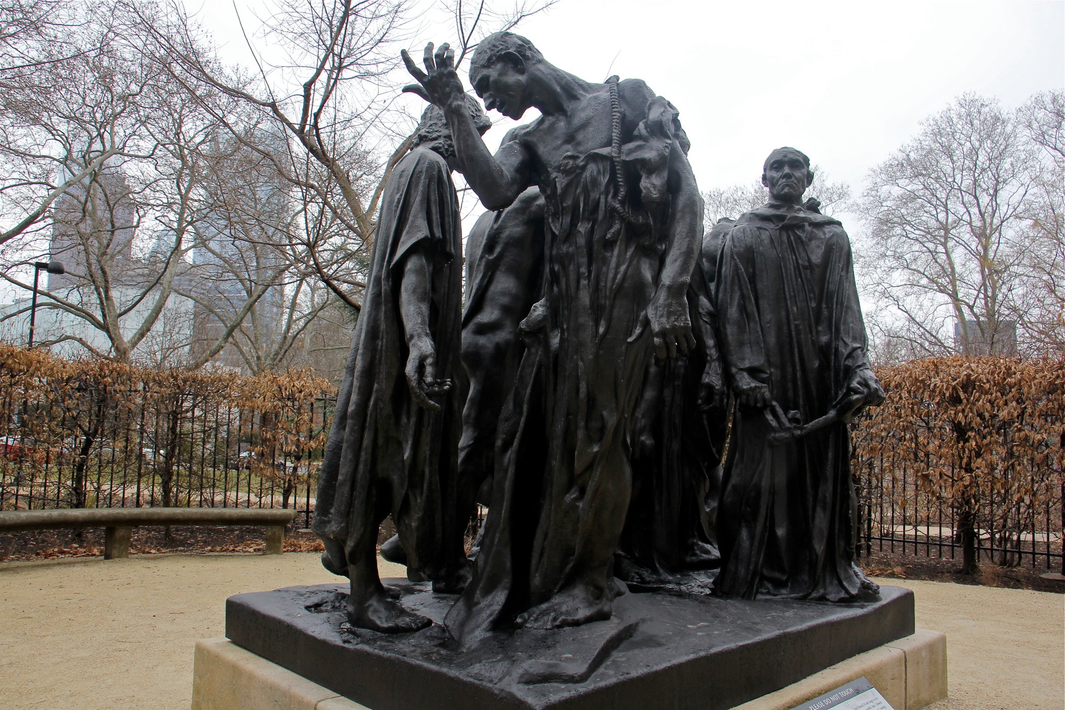 """The Burghers of Calais,"" commemorating an episode during the Hundred Years' War between England and France, is one of the most successful of Rodin's public monuments."