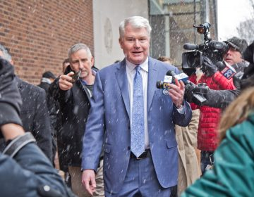 Union Leader John Dougherty exits federal court after he pled not guilty at his arraignment Friday, Feb. 1, 2019,(Kimberly Paynter/WHYY)