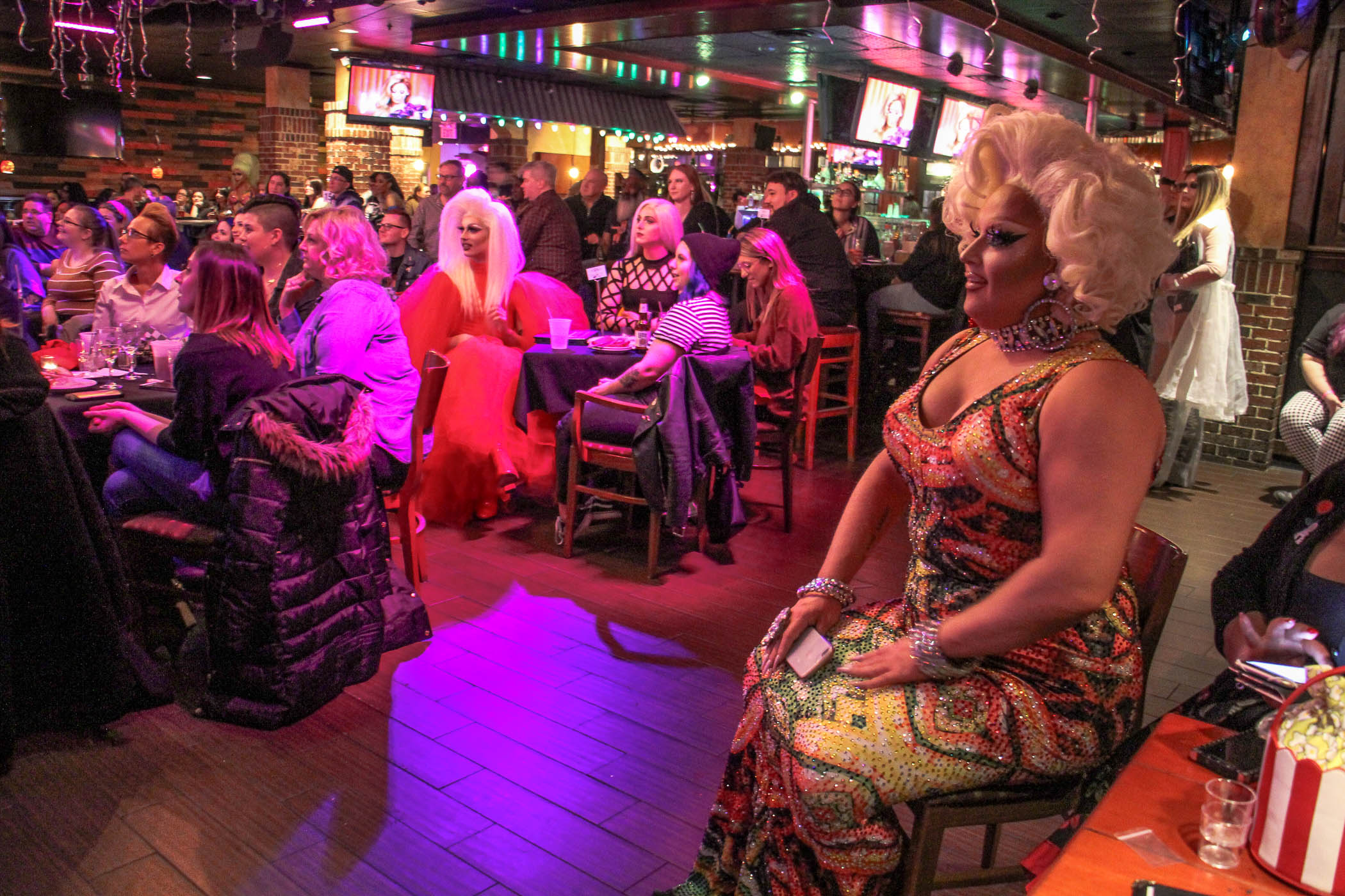 Fans of RuPaul's Drag Race pack Vera's Bar and Grill in Cherry Hill to watch the show's season opener, which featured Cherry Hill native Ariel Versace.