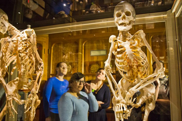 Carol Orzel had FOP, a rare disorder in which connective tissue is replaced by bone. She wished her skeleton to be displayed at the Mütter Museum in Philadelphia. (Kimberly Paynter/WHYY)