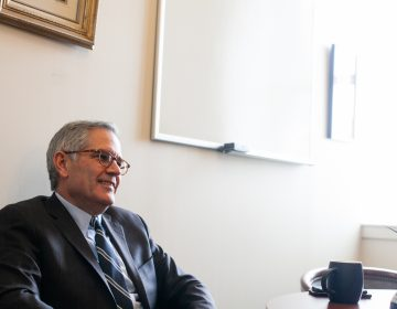 Philadelphia District Attorney Larry Krasner is pictured in the District Attorney's Office in Center City Friday February 1, 2019. (Brad Larrison for WHYY)