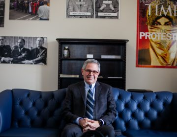 Philadelphia District Attorney Larry Krasner is pictured in the District Attorney's Office in Center City on Friday February 1, 2019. (Brad Larrison for WHYY)