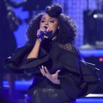 Marsha Ambrosius performs during a tribute to lifetime achievement award winner Anita Baker at the BET Awards at the Microsoft Theater on Sunday, June 24, 2018, in Los Angeles. (Photo by Richard Shotwell/Invision/AP)