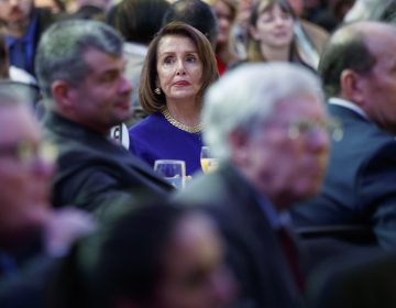 Speaker of the House Nancy Pelosi of Calif. listens during the National Prayer Breakfast attended by President Donald Trump, Thursday, Feb. 7, 2019, in Washington. (Evan Vucci/AP Photo)