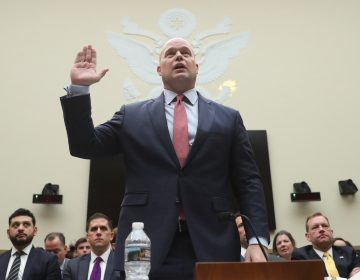 Acting Attorney General Matthew Whitaker is sworn in before the House Judiciary Committee on Capitol Hill, Friday, Feb. 8, 2019 in Washington.  (Andrew Harnik/AP Photo)