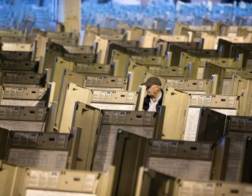 A technician works to prepare voting machines  in Philadelphia. (AP Photo/Matt Rourke, File)