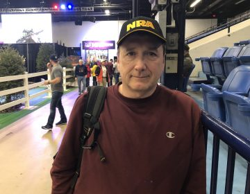 Frank Menendez, 54, of Long Island, New York, joined the NRA at the Great American Outdoor Show in Harrisburg. (Ed Mahon / PA Post)