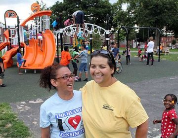 Patty-Pat Kozlowski (right) working at McPherson Square Day Camp. (Provided)