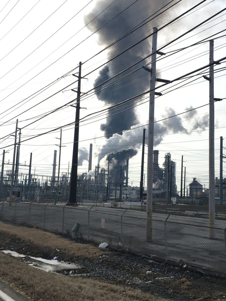 The cause of the fire at the Delaware City refinery is still unknown. State Sen. Nicole Poore says no one was injured in the blaze. (John Jankowski for WHYY)
