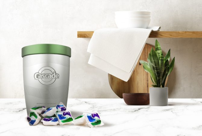 A new initiative through TerraCycle will bring products like Cascade to local stores in reusable packaging (Provided)