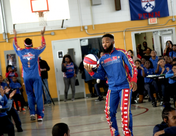 "East Germantown native Darnell ""Speedy"" Artis will make his hometown debut this weekend with the Harlem Globetrotters (Kimberly Paynter/WHYY)"