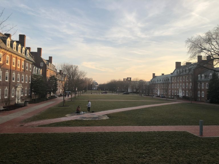 The University of Delaware wants state taxpayers to split the cost of paying tuition and fees for students from half of Delaware's families. (Cris Barrish/WHYY)