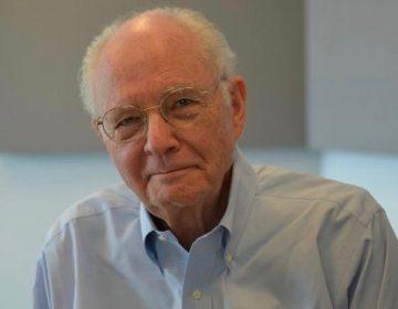 William H. Siemering taken in 2017 during a visit to KWMU in St. Louis. (Kelly Moffitt/St. Louis Public Radio, KWMU)
