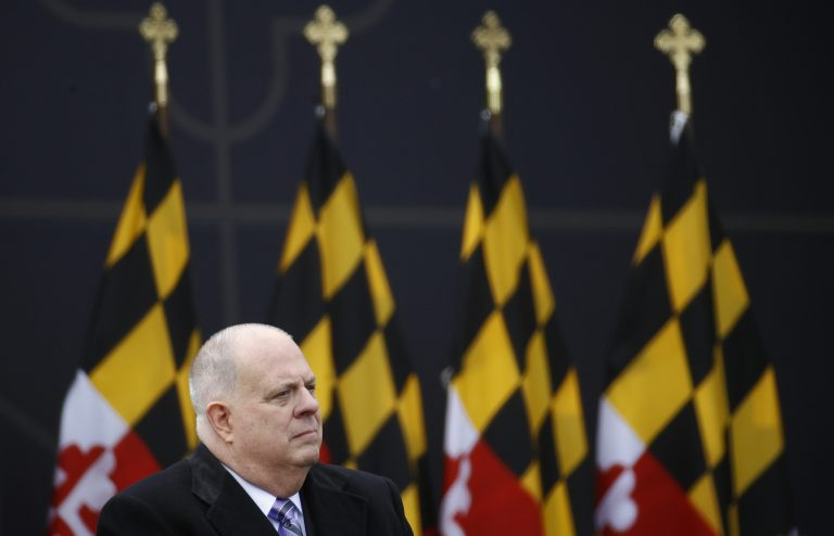 Maryland Gov. Larry Hogan is a well-liked Republican governor in a heavily Democratic state. Observers are looking for clues as to whether he'd challenge President Trump in 2020. (Patrick Semansky/AP)
