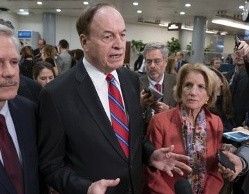 Sen. Richard Shelby (center), is the top Republican in a bipartisan group of lawmakers working to craft an agreement on border security. (J. Scott Applewhite/AP Photo)