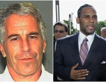 Jeffrey Epstein (Palm Beach Sheriff's Office via AP, File), R. Kelly (AP Photo/Charles Rex Arbogast),