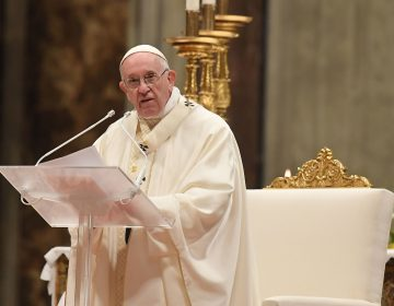 Pope Francis celebrates a holy mass at St. Peter's basilica in the Vatican. (Tiziana Fabi/AFP/Getty Images)
