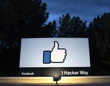 A sign at the entrance to Facebook's corporate headquarters in Menlo Park, Calif. Advocacy groups are asking the Federal Trade Commission to open an investigation into Facebook practices that let children make in-game purchases without their parents' permission. (Josh Edelson/AFP/Getty Images)