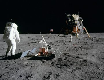 Astronaut Buzz Aldrin walks on the moon during the Apollo 11 mission in 1969. The landing site at Tranquility Base has remained mostly untouched — though that could change as more nations and even commercial companies start to explore the moon. (NASA)