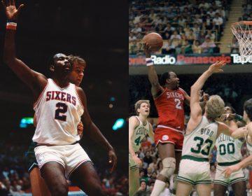 Philadelphia 76ers legend Moses Malone (AP Photos/Kevin Reece, Charlie Krupa)