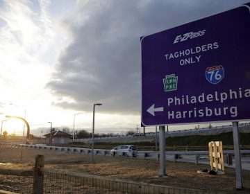 In this file photo, a driver enters the Pennsylvania Turnpike at a electronic interchange in Malvern. (Matt Slocum/AP Photo)