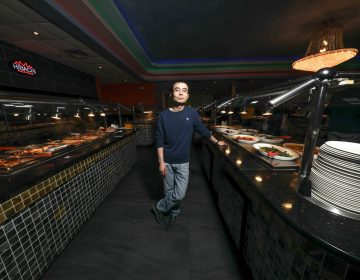Guang Chen, who also owns Hibachi Grill & Supreme Buffet in Glasgow, is planning to open a restaurant near Newark where robots will seat and serve patrons. (Saquan Stimpson for WHYY)