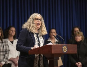 Department of Health Secretary Dr. Rachel Levine speaks at a press event March 2019. (Provided)
