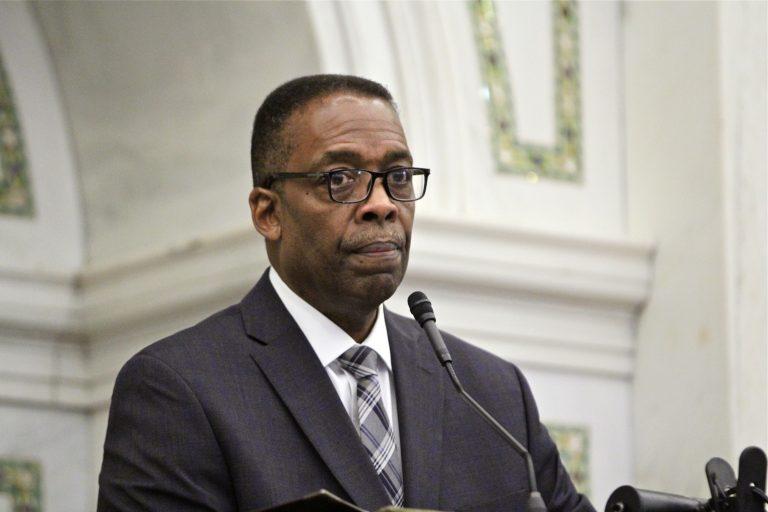 Philadelphia City Council President Darrell Clarke. (Emma Lee/WHYY)