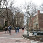 Locust Walk on the University of Pennsylvania campus. (Ximena Conde/WHYY)
