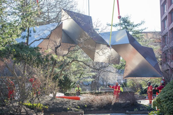How a massive fredenthal sculpture moved to chestnut hill - Jonathan s restaurant garden city ...