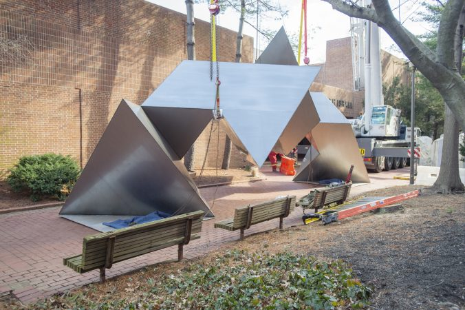 How a massive Fredenthal sculpture moved to Chestnut Hill - WHYY